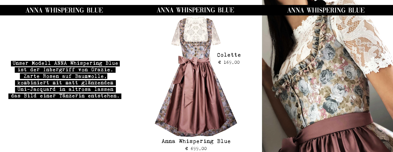 Lookbook 2019 Unser Modell ANNA Whispering Blue ist der Inbegriff von Grazie. Zarte Rosen auf Baumwolle, kombiniert mit matt glänzendem Uni-Jacquard in altrosa lassen das Bild einer Tänzerin entstehen.