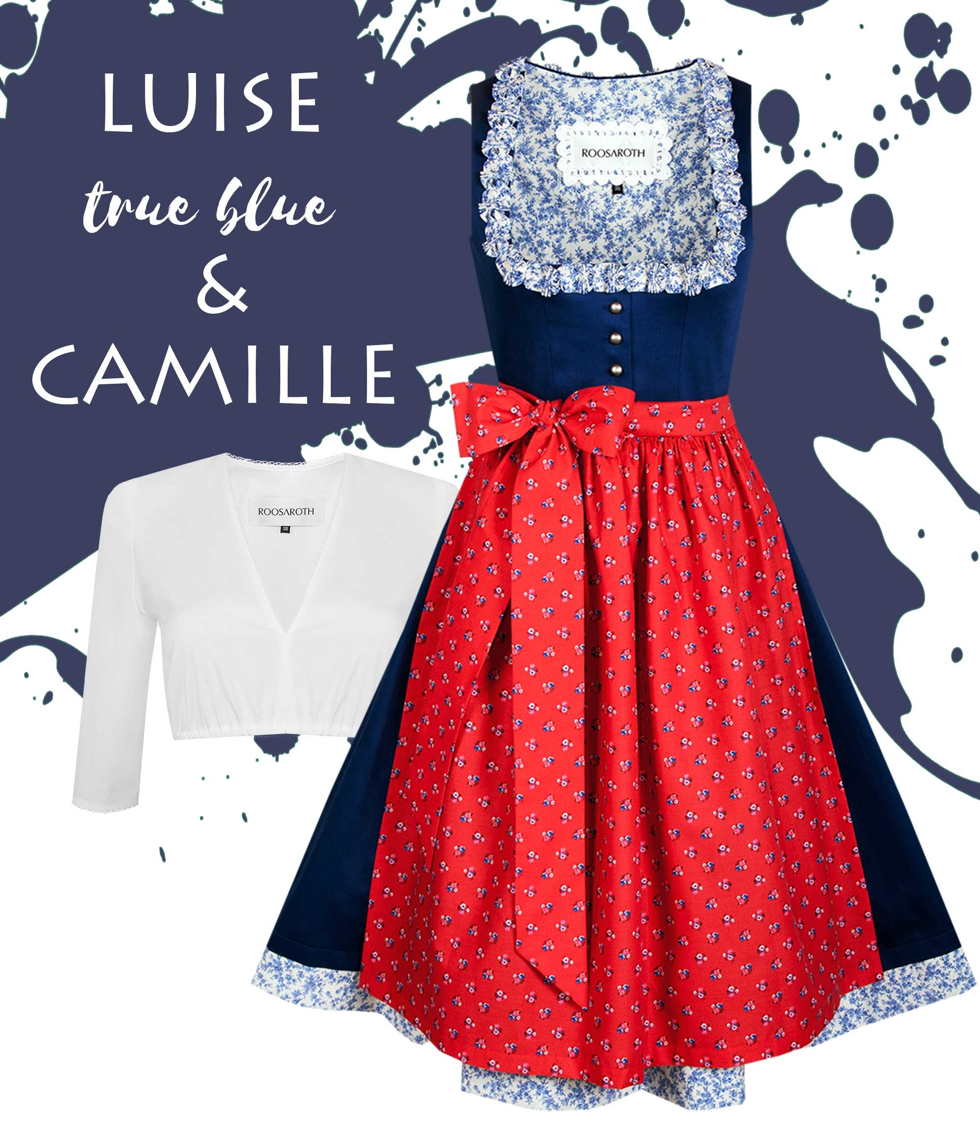Dirndl Luise True Blue