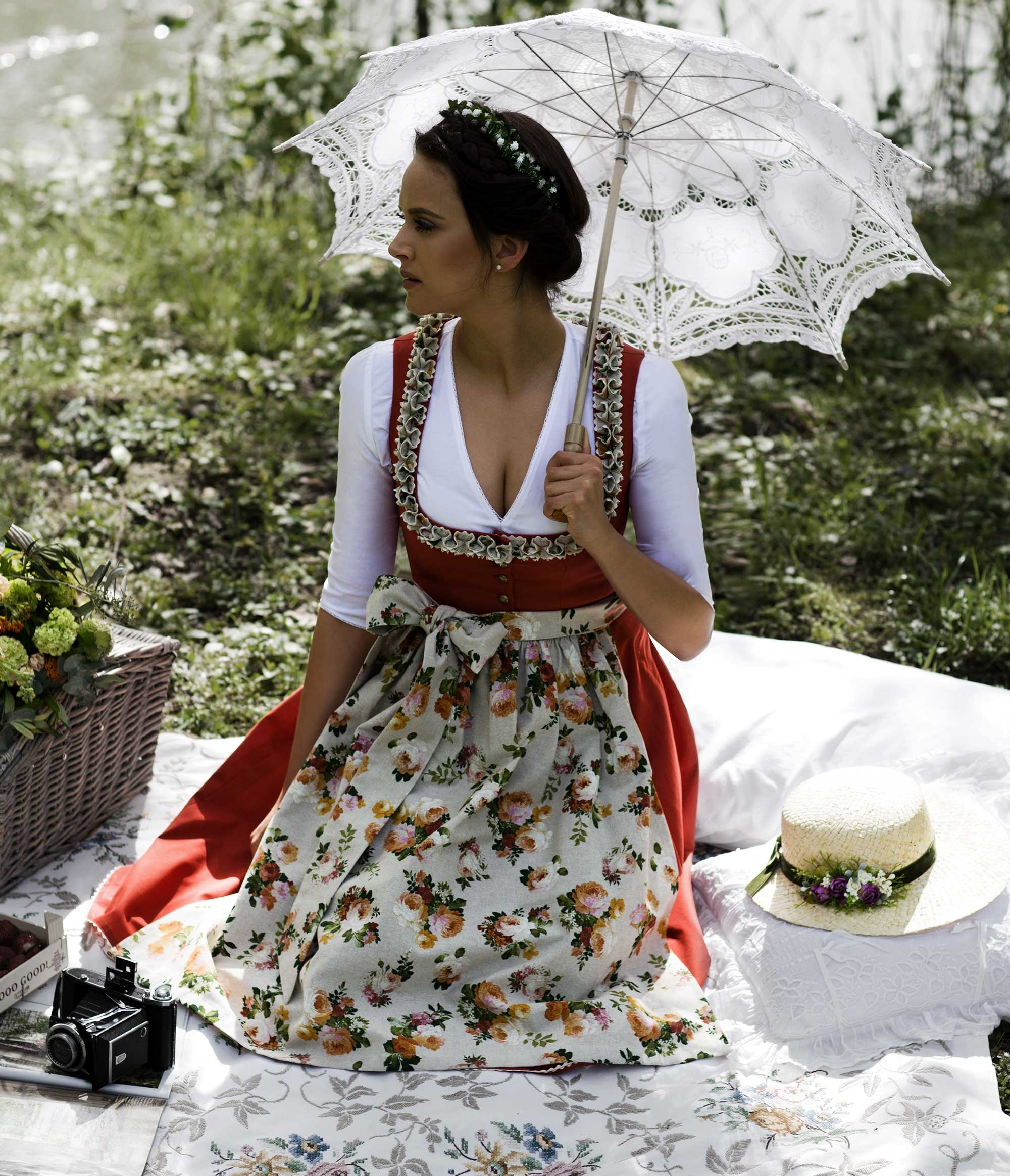 Dirndl Alma Red Clay