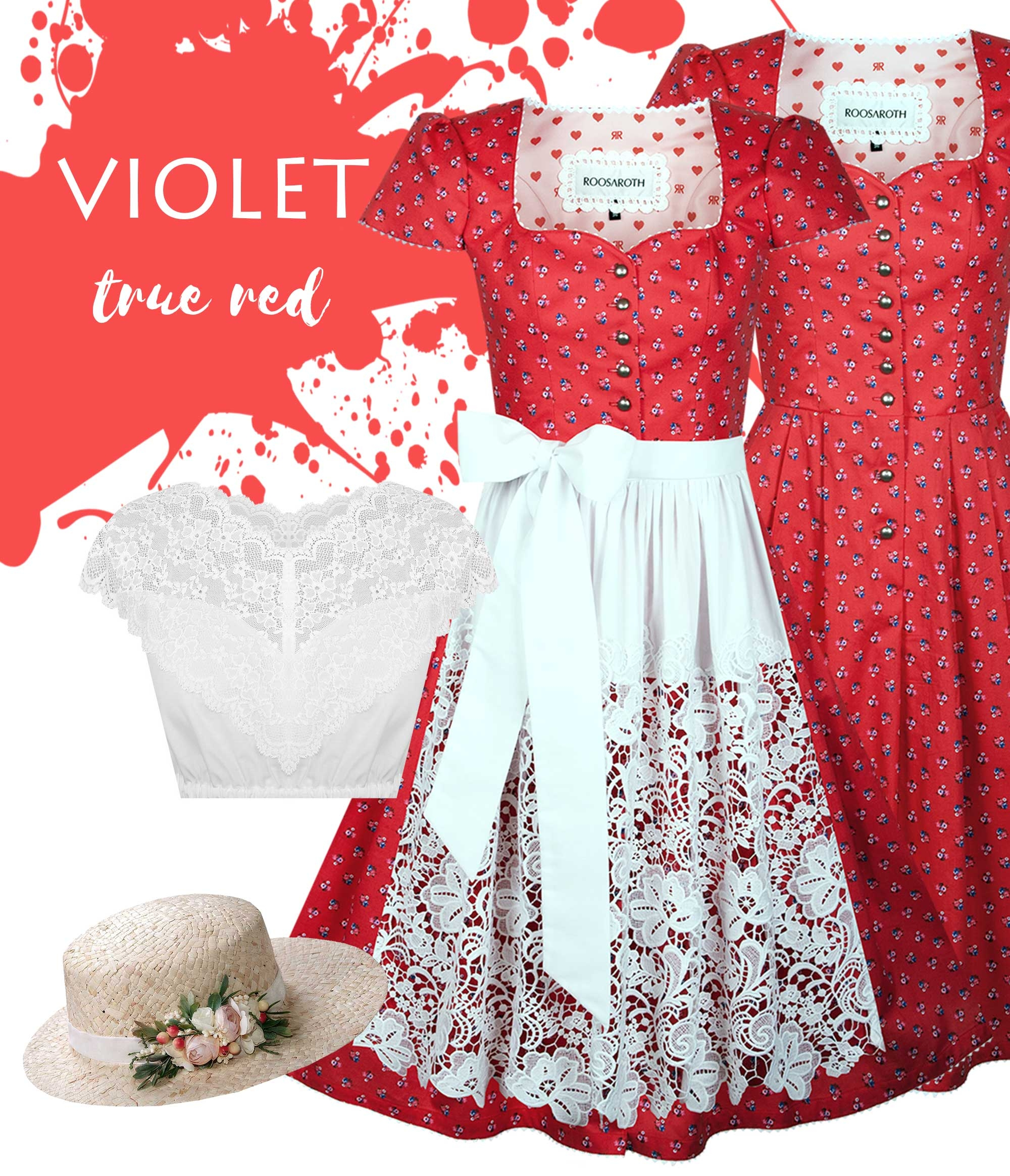Dirndlkleid Violet True Red